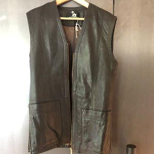 Jackets & Blazers - Vintage Black Leather Vest